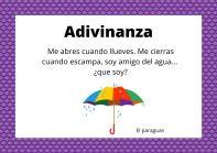 Adivinanza de Objetos paraguas