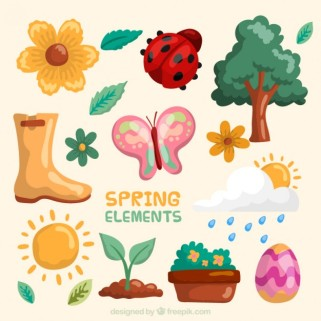cute-hand-drawn-spring-elements_23-2147541252