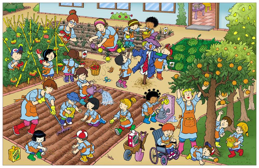 Huerto escolar for Asociacion de plantas en el huerto