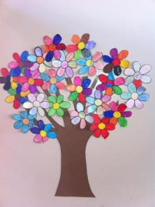 Cómo hacer un árbol de primavera para decorar