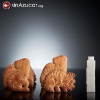 8 galletas Dinosaurus tienen 16,8g de azúcar, lo que equivale a 4,2 terrones. ¡Con razón se extinguieron!