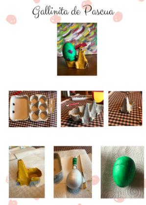 Gallinita de Pascua Instrucciones